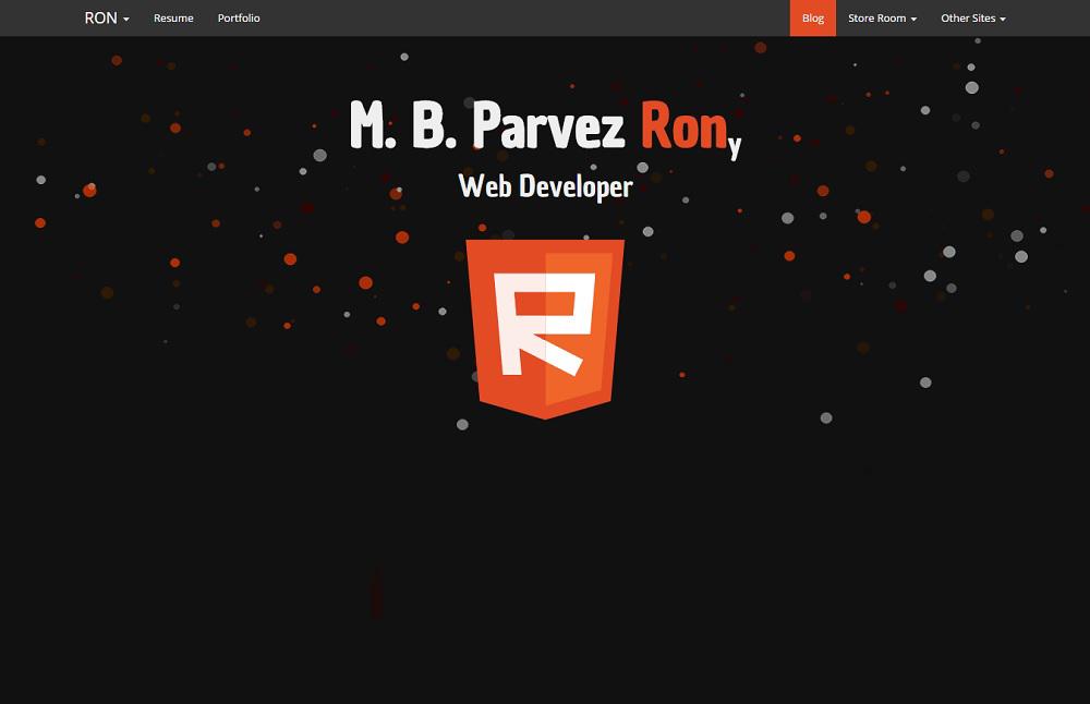 M. B. Parvez Rony – Bangladeshi Web Designer and Developer