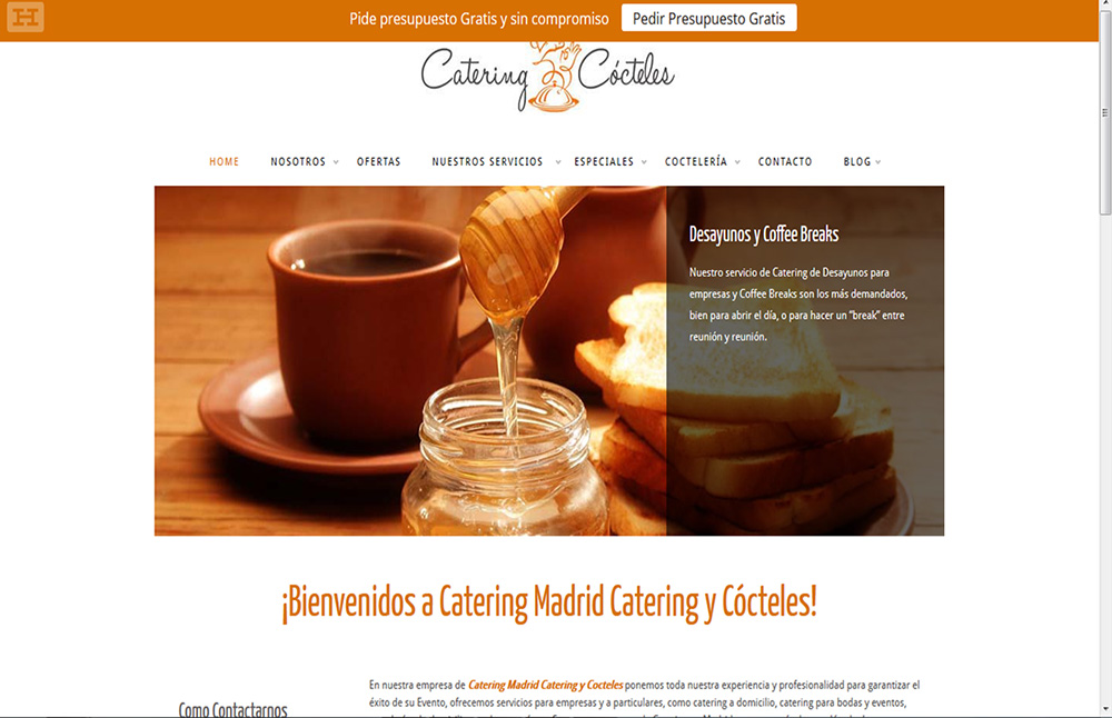 Catering en Madrid domicilio